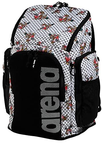 ARENA Bolsa Team Backpack 45 Allover Mochila, Adultos Unisex, Crazy Tattoos (Multicolor), Talla Única