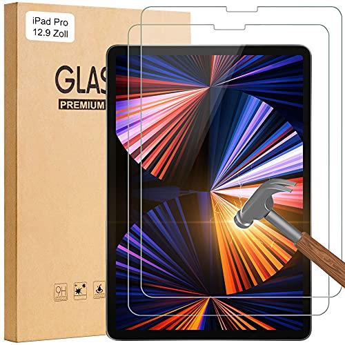 SENGBIRCH 2 protectores de pantalla de cristal templado compatibles con iPad Pro 12.9 2021, 2.5D para iPad Pro 12.9 pulgadas 2021/2020/2018