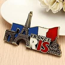 Designeez Paris France Travel Collectible Metal Stereoscopic Fridge Magnet Sticker Tourist Souvenir