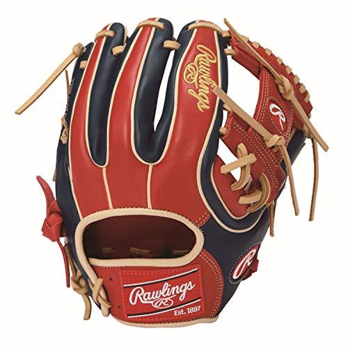 Rawlings(ローリングス) 野球 軟式用 HOHR MAJOR STYLE [内野手用] メジャースタイル GRXHMC42 スカーレット/ネイビー [サイズ 11.25] [11 1/4inch] LH(Right hand throw)※右投用