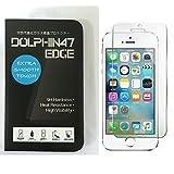 DOLPHIN47 EDGE ブルーライトカット 液晶保護フィルム ガラスフィルム 強化ガラス iPhone5 iphone5s iphone5c 対応 ブルーライト 90% カット 日本製素材使用