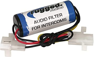 Rugged Radios Inline Audio Filter for Intercoms - Reduces Noise Generated by Power Supply and Electronic Accessories