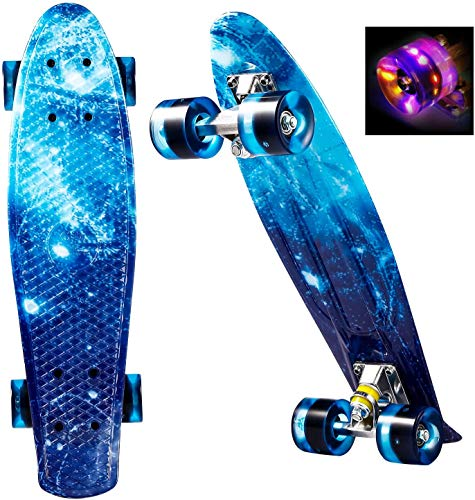 WeSkate Mini Cruiser Skateboard tabla completa retro 22