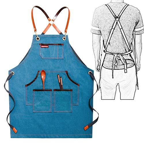 Werkschort met 5 zakken voor schort voor barbieren kunsthandwerk giardiniers Barista E