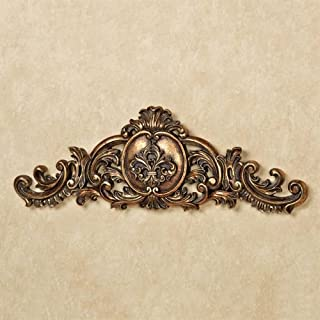 Touch of Class Kingsley Fleur Wall Topper Aged Gold