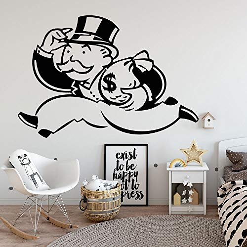 Money Bags Monopoly Game Board Games Family Time Strategy Strategic Babies Guys Boys Girls Womens Kids Children Wall Decals Vinyl Stickers Art Rooms Room Walls Wall Decoration Size (10x10 inch)