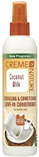 Creme of Nature Coconut Milk Detangling Leave In Conditioner, 8.45 fl Ounce (75724219298)