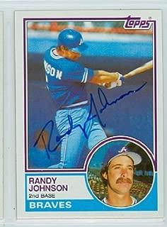 Randy Johnson AUTOGRAPH 1983 Topps #596 Atlanta Braves