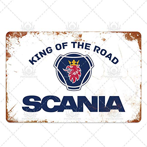 Ami0707 Garagenhöhle Scania Metallschild Plaque Metall Vintage Blechschild Metall Poster Wanddekoration Für Garage Bar Pub Man Cave Dekorative Platte 7.8x11.8inch TH4490