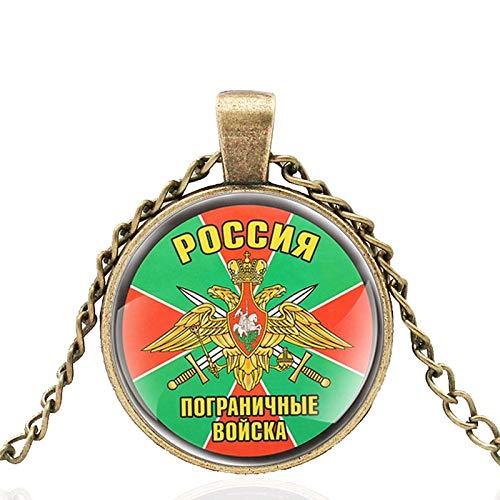 TUDUDU Águila De Doble Cabeza Guardia De Fronteras Ruso Cúpula De Cristal Colgante Clásico De Metal Colgante Retro Hombres Y Mujeres Regalo De Joyería