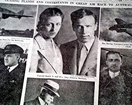 MACROBERTSON AIR RACE London to Melbourne Airplane w/ Mollisons 1934 Newspaper THE NEW YORK TIMES, October 21, 1934