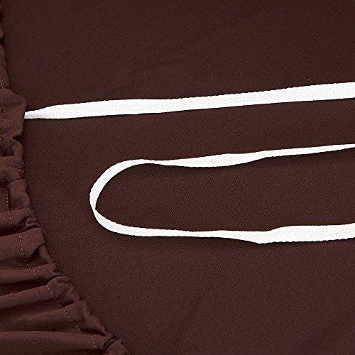 Basongソファーカバーストレッチタイプ3人掛け肘付き滑り止め付き四季兼用コーヒー色190-235cm