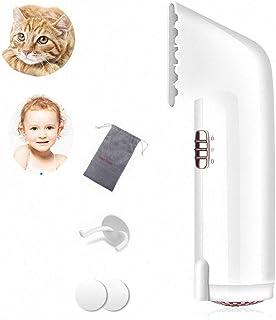 Secador de pelo de viaje, potente viaje portátil de secado rápido de 220V DC motor rápido 750W Ionic secador de pelo profesión para secar el pelo del bebé de la mascota, montado en la pared,White