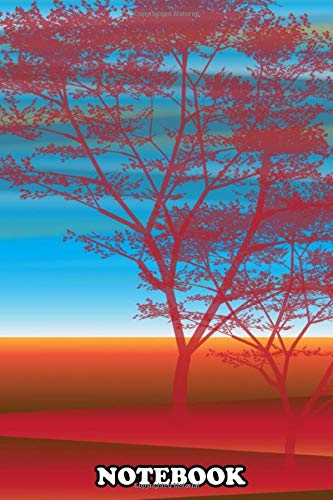 Notebook: Red Tree , Journal for Writing, College Ruled Size 6