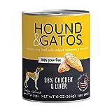 Hound & Gatos Wet Dog Food, 98% Chicken & Liver, case of 12, 13 oz cans