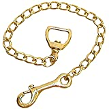Intrepid International Basic Brass Plaited Stud Chain 30 Inch