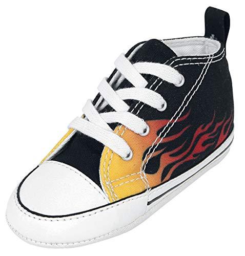 Converse Chuck Taylor First Star - Fire Unisex Baby Schuhe schwarz/gelb/rot EU 17