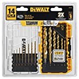 Product Image of the DEWALT Drill Bit Set, Titanium, 14-Piece (DW1354)