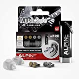 Alpine MusicSafe Ear Plugs Hearing Protection for Musicians - 2 Different Filter Sets and accessories to enhance your music-making experience - Hypoallergenic and Reusable earplugs - Transparent
