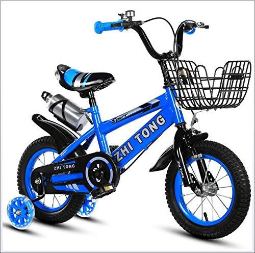 Wly&Home 12 Pulgadas, 14 Pulgadas, Bicicletas para niños de 16 Pulgadas, Marcos, Asientos, Bicicletas Ajustables, Bicicletas con hervidores y cestas Son adecuados para niños de 3 a 10 años de Edad