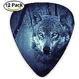 Fierce Wolf Guitar Picks Set Paletas Plectrums para guitarristas