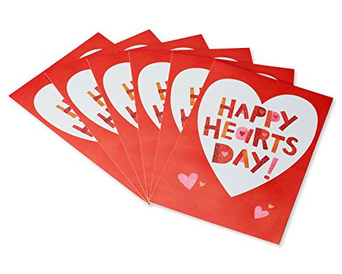 American Greetings Valentine's Day Cards with Envelopes, Happy Heart's Day (6-Count)