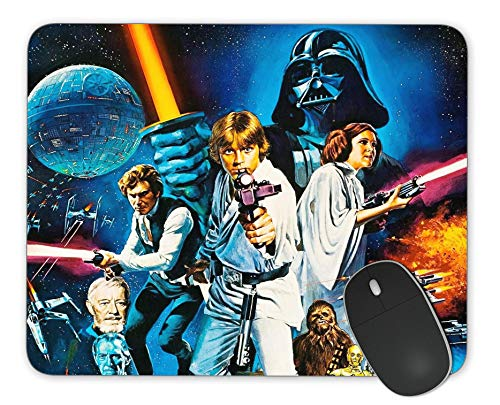 Office and Home Computer Mouse Pads, Rectangular Non-Slip Gaming Mouse Pads, Star Wars Mouse Pads 7.9 x 9.5 in