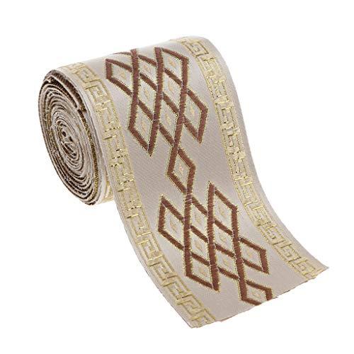 chiwanji 5,5 Iarde Jacquard Trim Fai-da-Te per Cucire Artigianato Decorazioni per Tende A Casa Artigianato - 6 Centimetri