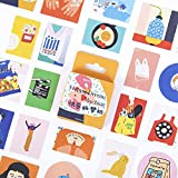 BLOUR Happy Dream Machine Papelería Decorativa Mini Stickers Set Scrapbooking DIY Diary Album Stick Lable46 Unids/Caja