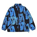 Hip Hop Parka Chaquetas Hombres Acolchado Chaqueta Invierno Harajuku Algodón Outwear Outwear Blue M