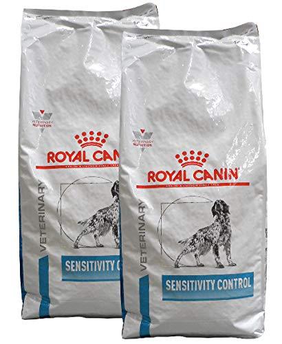 Royal Canin, Sensitivity Control (SC 21), Veterinary Diet, cibo secco per cani, 2 confezioni da 14 kg = 28 kg (etichetta in lingua italiana non garantita)