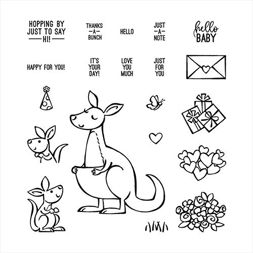 Cutting Dies for Christmas, Scrapbooking, DIY Kangaroo Bless Silicone Seal Handmade Embossing Templates (ST0535A1)