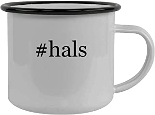#hals - Stainless Steel Hashtag 12oz Camping Mug, Black