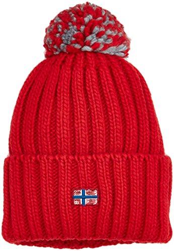 Napapijri Damen ITANG WOM 1 Strickmütze, Rot (Sparkling Red R66), One Size (Herstellergröße: D)