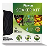 Flexon WS100KITCN 20-Piece Soaker Hose Kit, Black