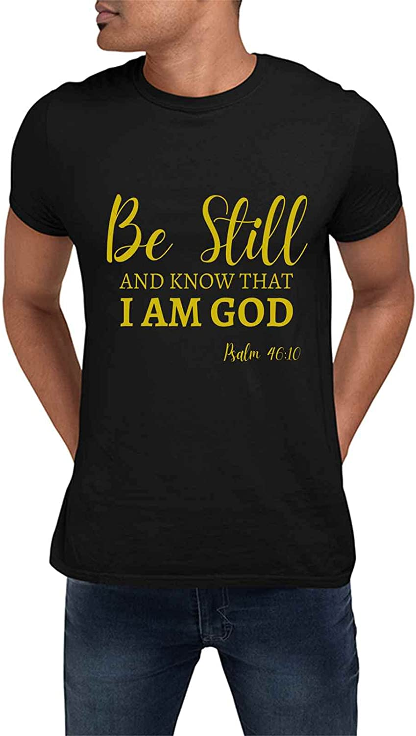 Special Magic For Christmas New Year Birthday Morphing Christian Bible Simple Be Still AND KNOW I AM GOD PSALM 4010 Heat Sensitive Present For Birthday, Anniversary, National Nurses Day S Black T-Shir