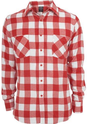Urban Classics URBAN CLASSICS Checked Flanell Shirt TB297 white/red S