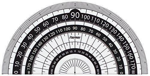 レイメイ藤井 分度器 見やすい白黒 分度器 黒 9cm APJ151B 【 3セット 】