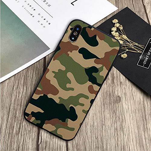 Motivo mimetico Camo militare esercito iron Man Custodia morbida in silicone TPU nera per iPhone 5 5S SE 6 7 8 plus X XS XR XS Max 11 Pro Max