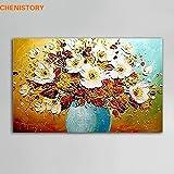 DIY (pintura digital) pintado a mano regalo de bricolaje pintura al óleo abstracta moderna hecha a mano flor paleta cuchillo pintura hogar pared pintura sala decoración pintura 30x50cm DIY Sin marco