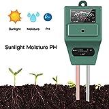 ZHEZHE - Medidor de humedad del suelo 3 en 1, medidor de humedad del suelo, medidor de luz y acidez de PH, kit de prueba de suelo vegetal para jardín, granja de jardín, interior y exterior