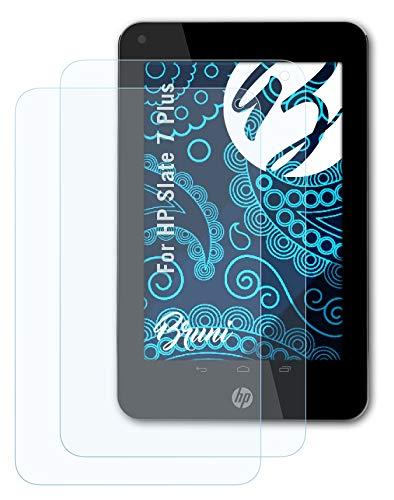Bruni Schutzfolie kompatibel mit HP Slate 7 Plus Folie, glasklare Bildschirmschutzfolie (2X)