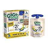 GoGo squeeZ yogurtZ, Banana, 3 Ounce (4 Pouches), Low Fat Yogurt, Gluten Free, Pantry-friendly, Recloseable, BPA Free Pouches