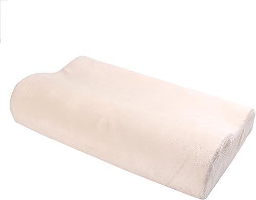 "wholesale Mallofusa Sweet Dream Memory outlet online sale Foam Pillow, Contoured Bed wholesale Pillow Breathable Removable Soft Cover,20""x12""x4"" sale"