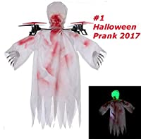 drone fantôme volant de haute course pour Halloween, le drone fantôme de course présente des caractéristiques horribles telles que les mains osseuses et les taches sanguines fournissant un effet mortifiant comme si un fantôme volait en haut, excellen...