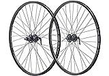 Vuelta 27,5 Zoll 650B Fahrrad Laufradsatz Pro Disc Hohlkammerfelge schwarz Shimano Tourney TX506 schwarz NIRO schwarz