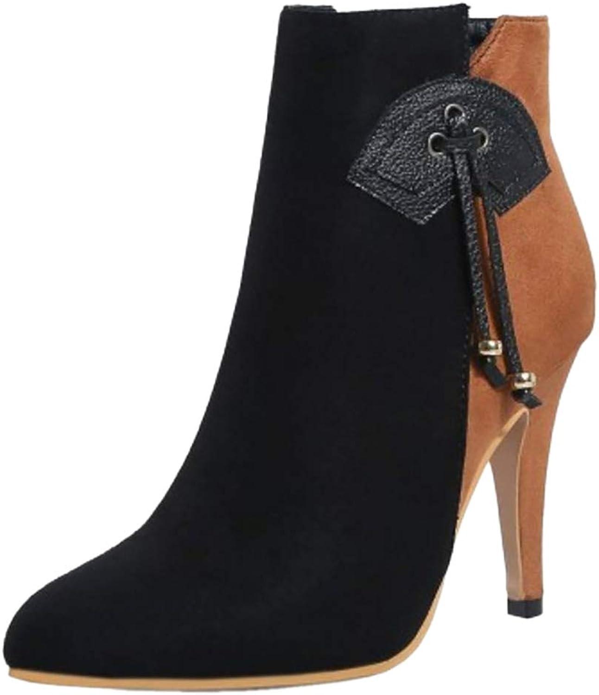 TAOFFEN Women Fashion Party Dress Boots Zipper