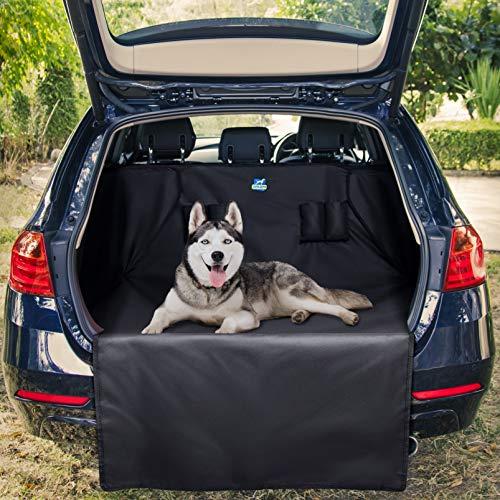 Jekam® Hochwertiger Kofferraum-Schutz Hund wasserdicht mit praktischer Transporttasche in 2 Größen | strapazierfähige Kofferraumschutzmatte mit Seitenschutz für Kombi SUV Van ASIN: B081N1FLX2