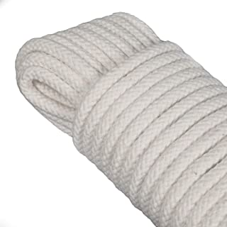 Space Home - Seil - Leine zum Aufhängen der Wäsche - Festmacherleine, Allzweckseil, Strick, Leine, Flechtleine - Baumwolle - 20 Meter - 8 mm