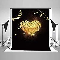 新しい5ft(W)x7ft(H)ハッピーバレンタインデーの写真の背景バレンタインデーの背景マイクロファイバーバレンタインデーのパーティーの装飾写真の背景